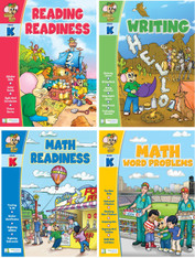 Smart Alec (Grade K) 4 Pack Learning Series, Includes: Writing, Math Readiness, Reading Readiness, Math Word Problems