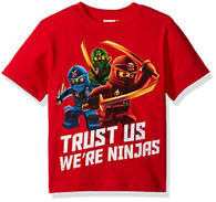 Lego Ninjago Little Boys' T-Shirt, Red, 4