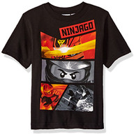 Lego Ninjago Little Boys' T-Shirt, Black, 7