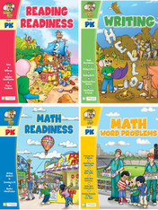 Smart Alec (Grade Pk) 4 Pack Learning Series, Includes: Writing, Math Readiness, Reading Readiness, Math Word Problems