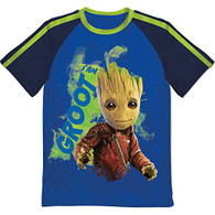 Marvel Little Boys' Guardians of Galaxy Glow in the Dark Groot T-Shirt, Blue, 5/6