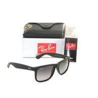 Ray-Ban Justin 0RB4165 622/T3 55mm Rubber Black / Grey Gradient Polarized