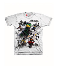 Lego The Ninjago Movie Little Boys' T-shirt, White (4)