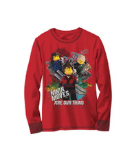 The Lego Ninjago Movie Long Sleeved Shirt, Size 5/6 Little Boys, 100% Cotton (Red)