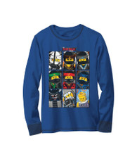 The Lego Ninjago Movie Long Sleeved Shirt, Size 5/6 Little Boys, 100% Cotton (Blue)