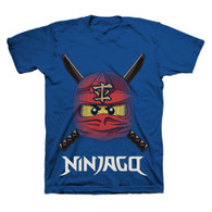 LEGO Ninjago Ready to Battle Face, Boys, Size 5/6 (Blue)
