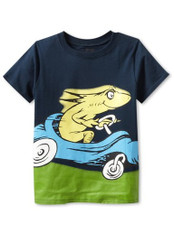 Bumkins Dr. Seuss Short Sleeve Graphic Toddler Tee - Fish Race Car 5T