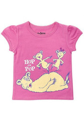 Bumkins Dr. Seuss Short Sleeve Graphic Toddler Tee - Hop on Pop Girl 5T