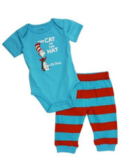 Bumkins Dr. Seuss Bodysuit and Pants Cat in the Hat