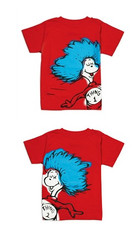Bumkins Dr. Seuss Both Thing 1 & 2 Toddler Graphic Tee Shirt Combo