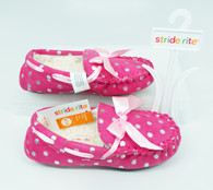 Stride Rite Shimmer Dot Moc Slippers Pink (Toddlers/Little Kids)