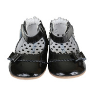 Robeez Catherine Mini Shoez Flat, Black (Toddlers)