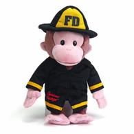 Curious George Fireman Plush, 13 inch (33 cm)