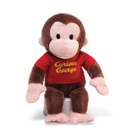 Curious George Plush Toy in a Classic Red Shirt, 12 inch (30.48 cm)