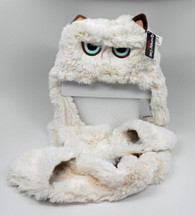 Gund Grumpy Cat Kids Scarf Hat, 37 inch (94 cm) long