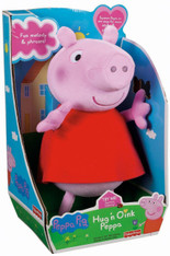 Fisher-Price Hug 'n Oink Peppa Plush Doll with Sound, 12 inch (30.5 cm)