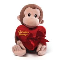 Curious George Valentine Plush, 11 inch (28 cm)