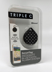 Triple C - Security Tag Proximity Bluetooth Alarm System for iPhone.  Pattern:  Dots