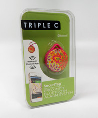 Triple C - Security Tag Proximity Bluetooth Alarm System for iPhone.  Pattern:  Kaleidoscope