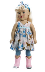 Madame Alexander Dollie & Me Blonde Doll in Printed Top with Leggins, 18 inch (45.7 cm)