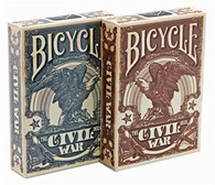 Bicycle Civil War Poker Playing Cards (Red or Blue)