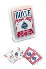 Hoyle Clear Plastic Playing Cards- Waterproof, Clear-Durable, Plastic case