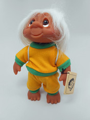 DAM Boy Jogger Troll with Backpack, White Hair, Yellow and Green Outfit 8.5 inch (21.6 cm) Listing #2