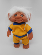 DAM Boy Jogger Troll with Backpack, White Hair, Yellow and Blue Outfit 8.5 inch (21.6 cm) Listing #3