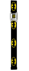 Buckle-Down Kids and Teens Adjustable 1.5 inch (3.8 cm)  Seatbelt Buckle Belt: Batman