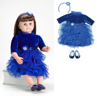 Ask Amy Doll, Dressed in a Blue Holiday Dress - Brown Hair, 20 inch (50.8 cm)