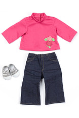 Ask Amy Doll Accessories Pack (Jeans, Pink Top, Sneakers) - Fits 20 inch (50.8 cm) Ask Amy Doll