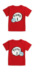 Bumkins Dr. Seuss Both Thing 1 & 2 Toddler Classic Tee Shirt Combo