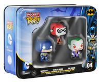 Batman DC Comics Pocket Pop! Mini Vinyl Figure Tin (3-Pack) Funko Collectible