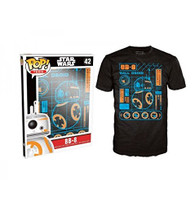 Funko POP! Tee Star Wars The Force Awakens BB-8 Blueprint Limited Edition Unisex T-Shirt
