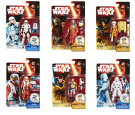 Star Wars The Force Awakens - Complete set of 6 Snow Desert 3.75 inch (9.53cm) Action Figures + BONUS!