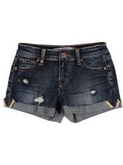Tractr 5 Pocket Turn Up Cuff With Selvedge Short, Color:  Indigo