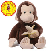 Curious George 75th Anniversary Stuffed Animal plush, 20 inch (50.8 cm)
