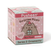 Gund Pusheen blind box - Holiday Series #2 Plush Ornament, 2.75 inch (7 cm)