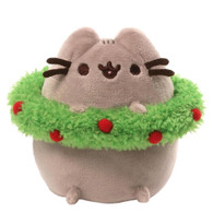 Gund Pusheen Holiday Plush with Wreath 4.5 inch (11.43cm)