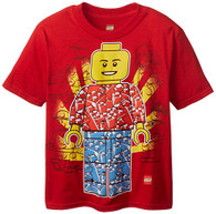 Lego Little Boys' Man T-Shirt, Red, 5/6