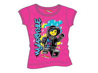 Lego Movie Girls T-Shirt, Fuschia, Size 6