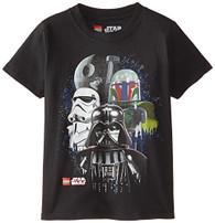Star Wars Boys' Darth Vader T-Shirt, Vader Black, 5/6