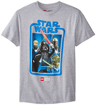 Star Wars Boys' T-Shirt, Gray, 10/12