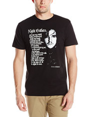 HBO'S Game Of Thrones Men's Jon Snow Night Gathers Short Sleeve T-Shirt, BlacK, XXL