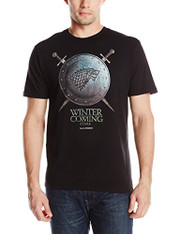 HBO'S Game Of Thrones Men's Stark Winter Is Coming Shield Short Sleeve T-Shirt