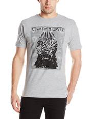 HBO'S Game Of Thrones Men's Iron Throne Short Sleeve T-Shirt, Grey Heather, XL