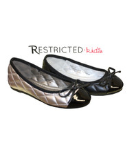 Restricted Kids RK-France Faux Leather Quilted Flats