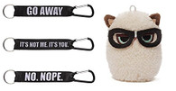 "Gund Grumpy Cat Mini With Glasses 4.5 inch Plush AND 3 Laynards: ""No. Nope"", ..."
