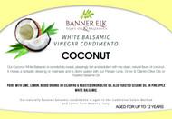Coconut, White Balsamic