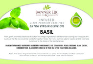 Basil - Infused Ultra Premium Certified Extra Virgin Olive Oil
